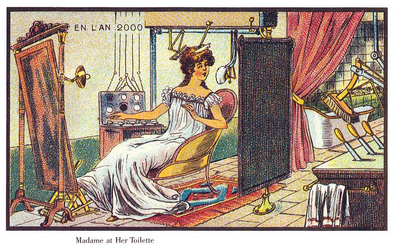 23-Toilette-Madame-Villemard-En-L-An-2000-wikimedia-Futurism-with-Illustrated-Postcards-from-the-1900s-www-designstack-co