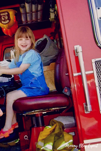 Red Fire Truck Little Girl Firefighter