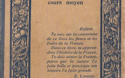 « Histoire de France » d'Ernest Lavisse, réédition 1914, détail (collection musée)