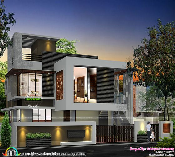 Single floor turning to a double floor home kerala home for Kerala home designs photos in double floor