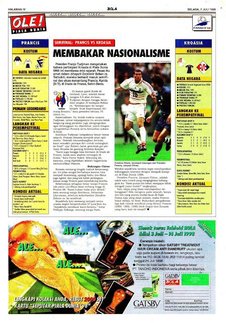 WORLD CUP 1998 SEMIFINAL FRANCE VS CROATIA