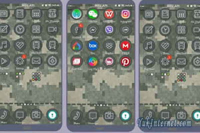 download tema vivo military templates