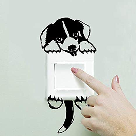 Simple Wall Painting Near Switchboard