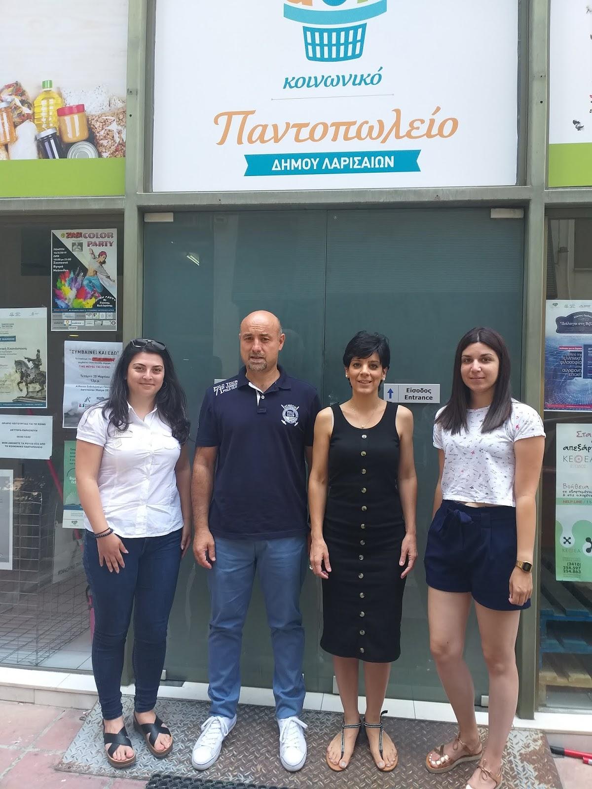 Το Κοινωνικό Παντοπωλείο Λάρισας επισκέφθηκε η 10η ΤΟΜΥ Γιάννουλης