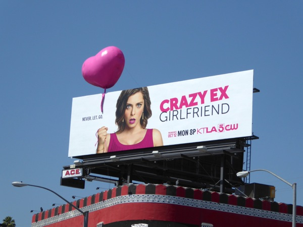 Crazy Ex-Girlfriend 3D balloon billboard