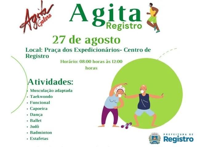 Esporte e Saúde promovem Agita Registro nesta sexta-feira 27/8