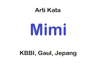 3+ Arti Mimi dalam Pergaulan