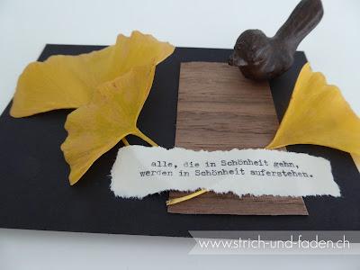 mit Strich und Faden: Herbstkarte Rainer Maria Rilke