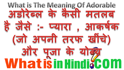 What is the meaning of Adorable in Hindi