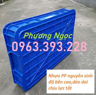 Thùng đặc công nghiệp HS025, sóng nhựa bít cao 10 cm, khay nhựa đặc có nắp Tdhs025.4