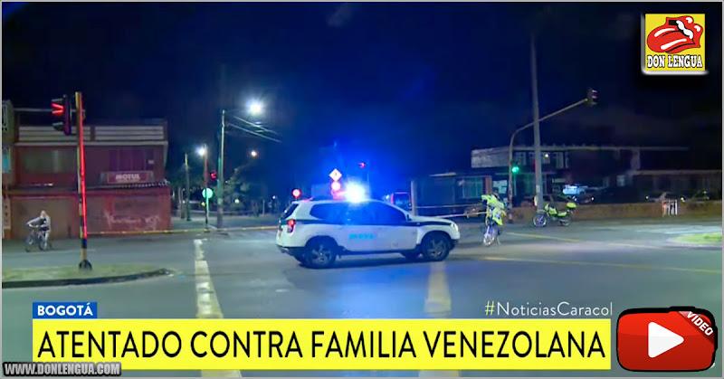 Asesinaron a un venezolano en Bogotá e hirieron a su hijo pequeño y su cuñado
