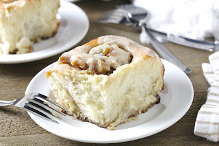 Apple Walnut Buns With Maple Brown Butter Glaze