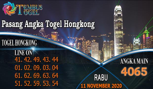 Pasang Angka Togel Hongkong Hari Rabu 11 November 2020
