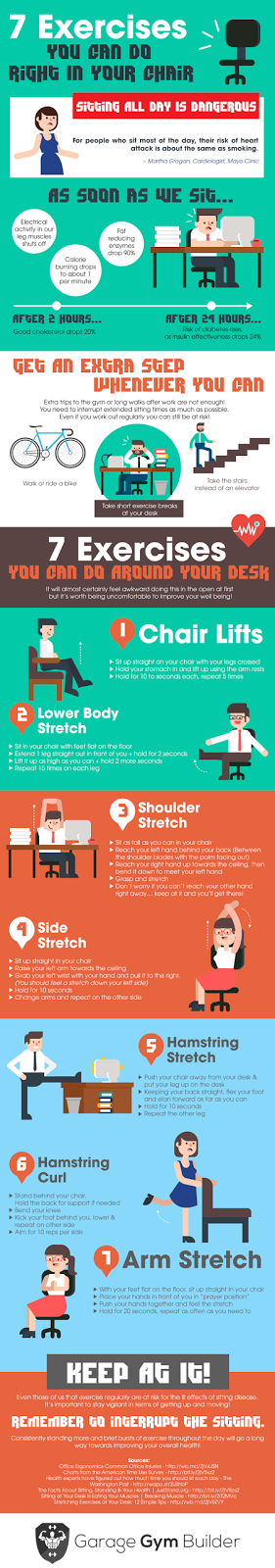Off Topic Infographic 7 Exercises You Can Do In Your