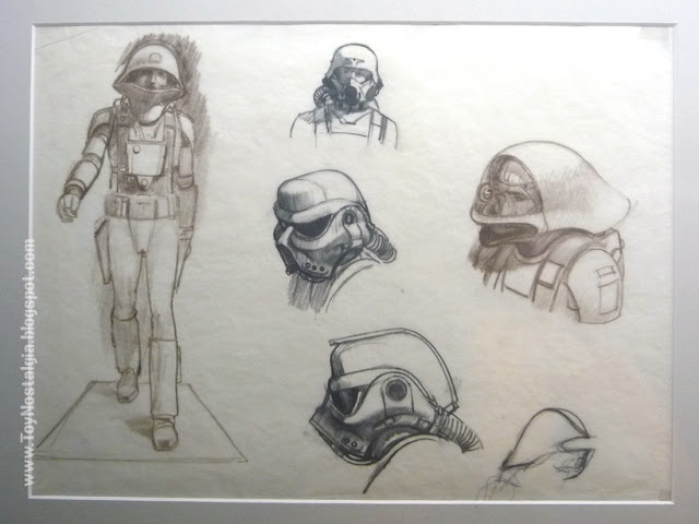 """Stormtrooper / death Squad commender concept Ralph McQuarrie  """"Episodio IV - STAR WARS - Una Nueva Esperanza""""  (STAR WARS - The Exhibition)"""