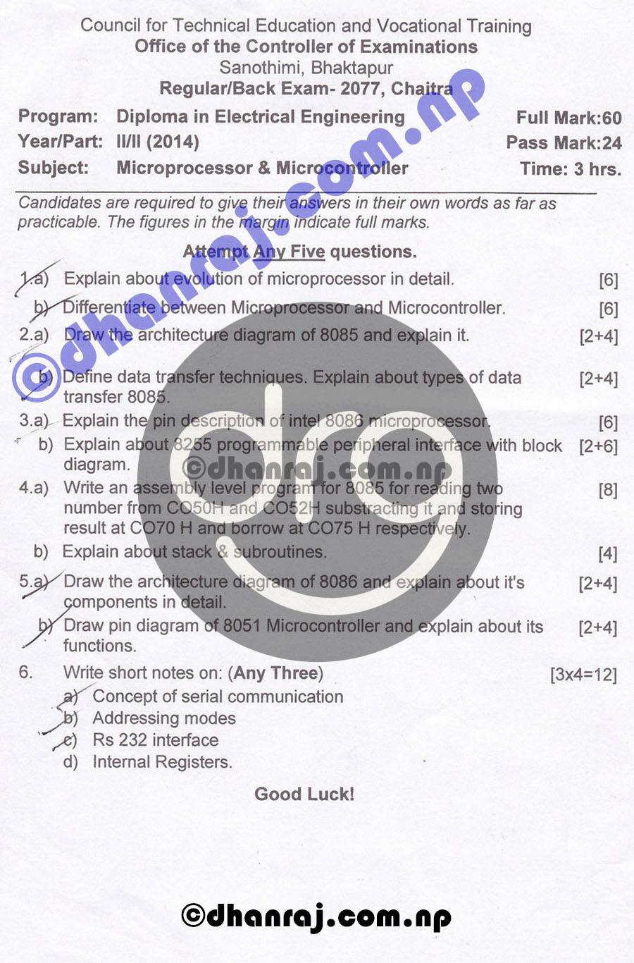Microprocessors-and-Microcontroller-Question-Paper-2077-CTEVT-Diploma-2nd-Year-2nd-Part