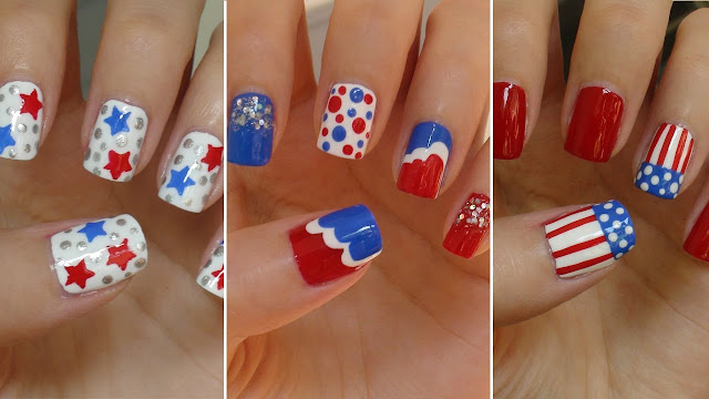 Happy 4th Of July 2017 Fireworks Nail Art