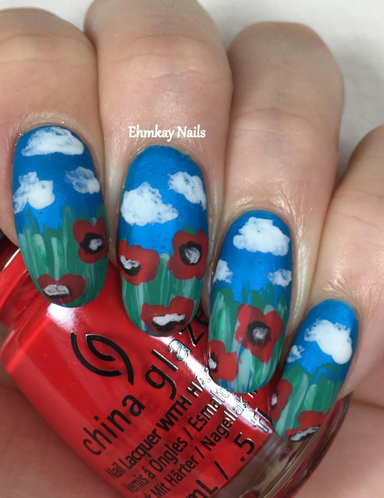 Ehmkay nails memorial day veteran poppies nail art memorial day veteran poppies nail art prinsesfo Choice Image