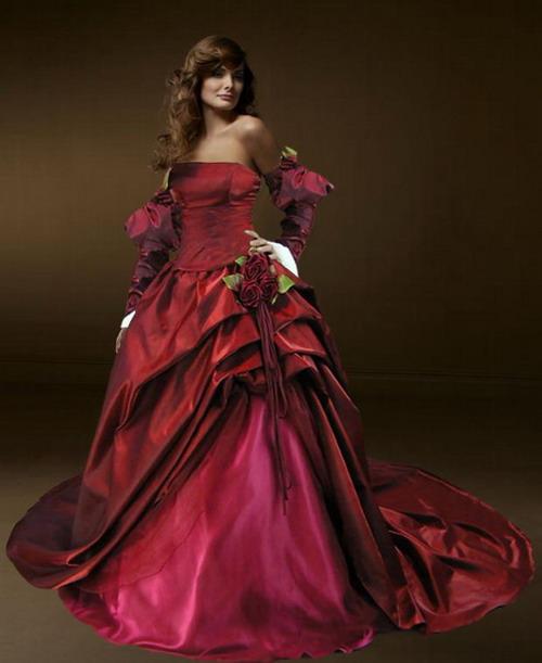 Medieval Wedding Dress Bridal Gown Silk Wedding Dress: Choose The Perfect Gothic Wedding Dresses For Women