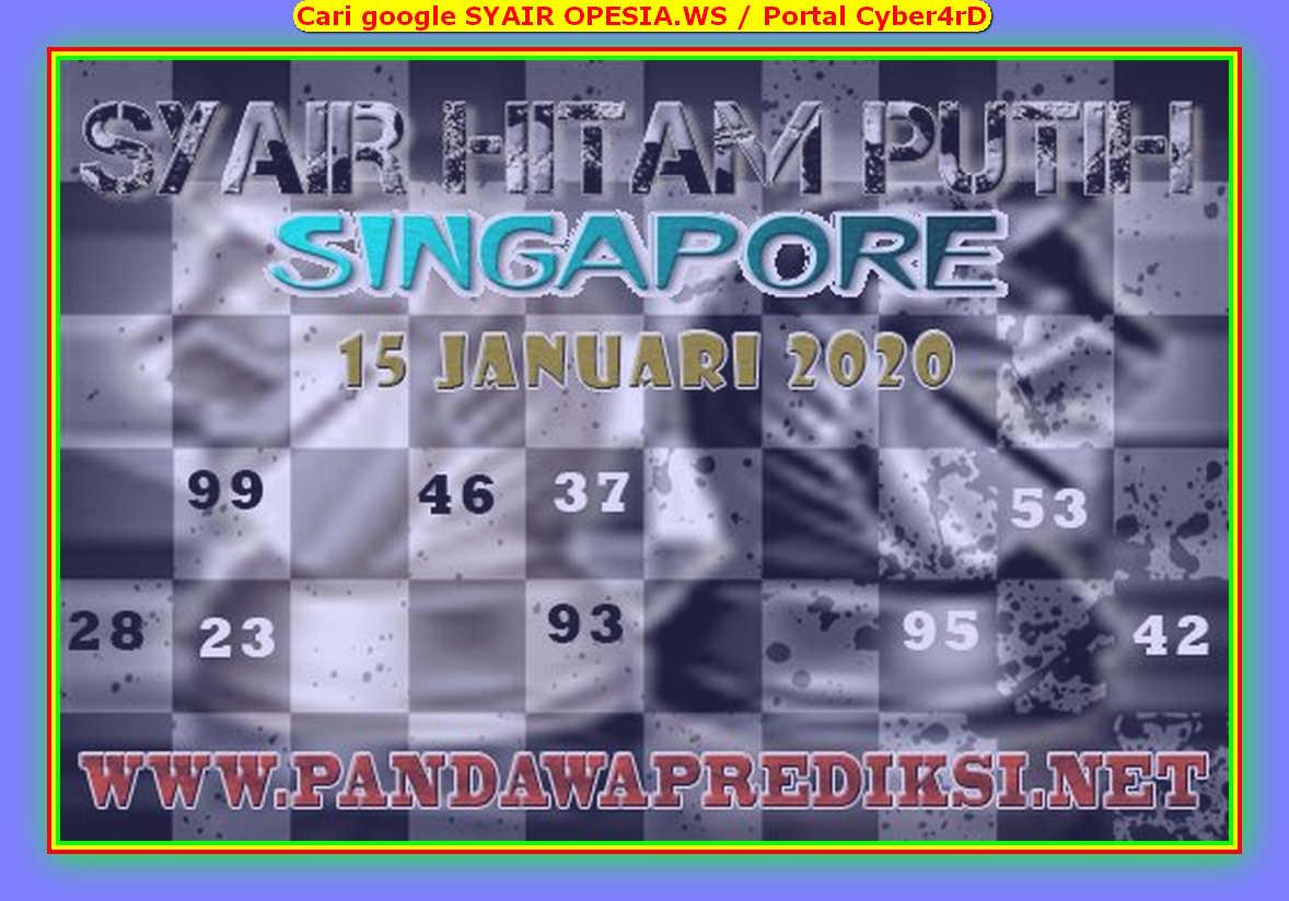 Kode syair Singapore Rabu 15 Januari 2020 154