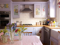 Beautiful kitchen with pastel colors