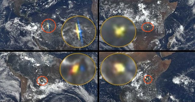 Mysterious flashes of light above Earth captured by NASA satellite and ISS live feed camera  Flashes%2Bof%2Blight%2Bnasa%2Biss%2Bdeep%2Bspace%2Bsatellite%2B%25281%2529
