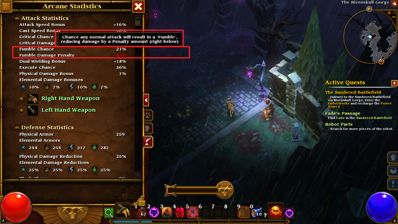 Explanation of Fumbles in Torchlight 2.