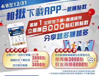 【家樂福】輸入錢包APP分享碼,現賺3000點紅利點數
