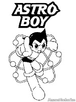 Astro Boy Coloring Pages