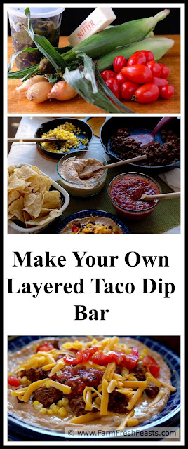 http://www.farmfreshfeasts.com/2015/08/make-your-own-layered-taco-dip-bar.html