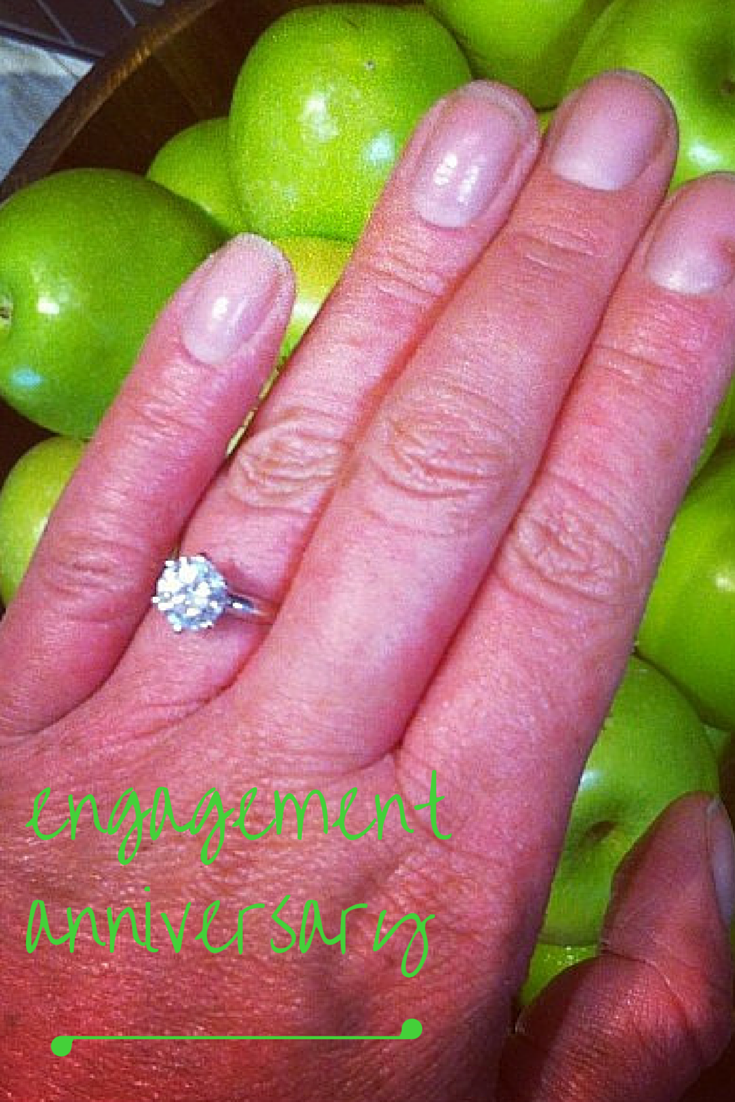 Carly Findlay engagement ring and apples