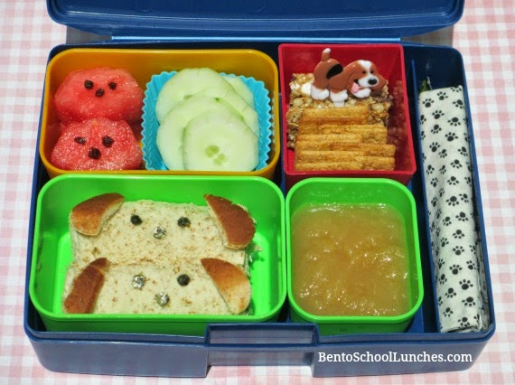 Dog roll ups sandwiches bento school lunch