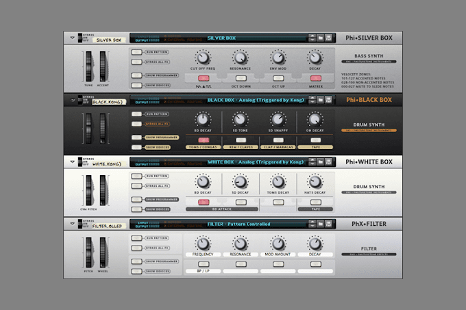 Bass and Drum Synth Patches for Reason