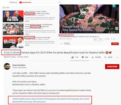 Penempatan Tagar dalam Youtube