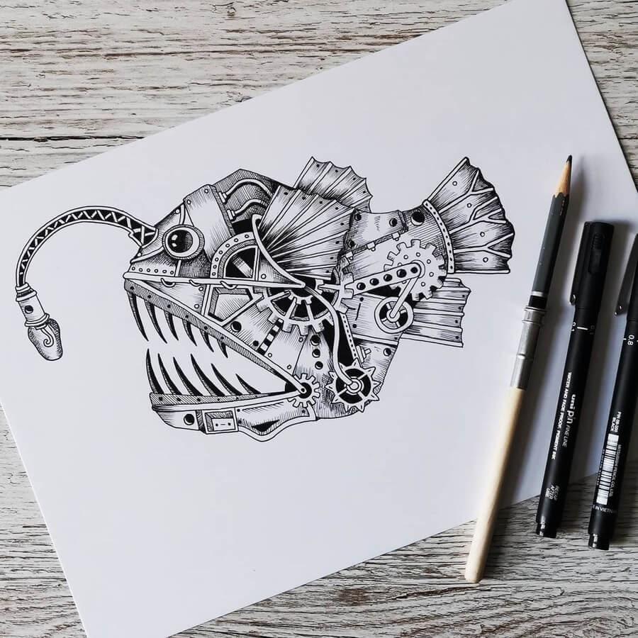 06-Angler-fish-Steampunk-Steve-Turner-www-designstack-co