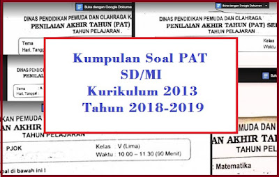 Soal PAT Kelas 4 Semester 2 Kurikulum 2013 dan Kunci Jawabannya Tahun 2018/2019