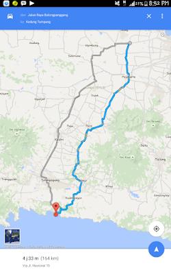 Wisata pantai kedung tumpang tulungagung, jalan menuju pantai kedung tumpang
