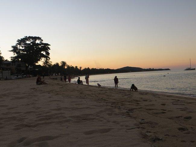 Встреча заката на пляже остров Самуи