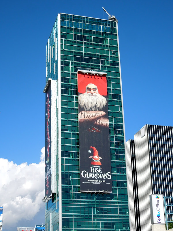 Giant Rise of Guardians movie billboard