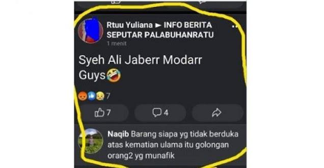 Viral Warga Sukabumi Hina Wafatnya Syekh Ali Jaber, Polisi: Akunnya Di-hack