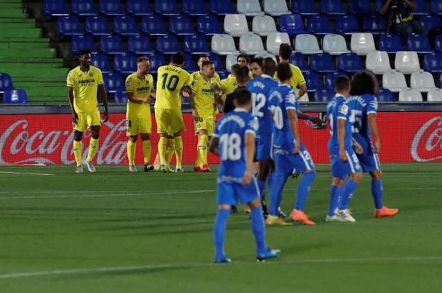 Villareal celebra el gol