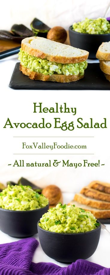 HEALTHY AVOCADO EGG SALAD – MAYO FREE