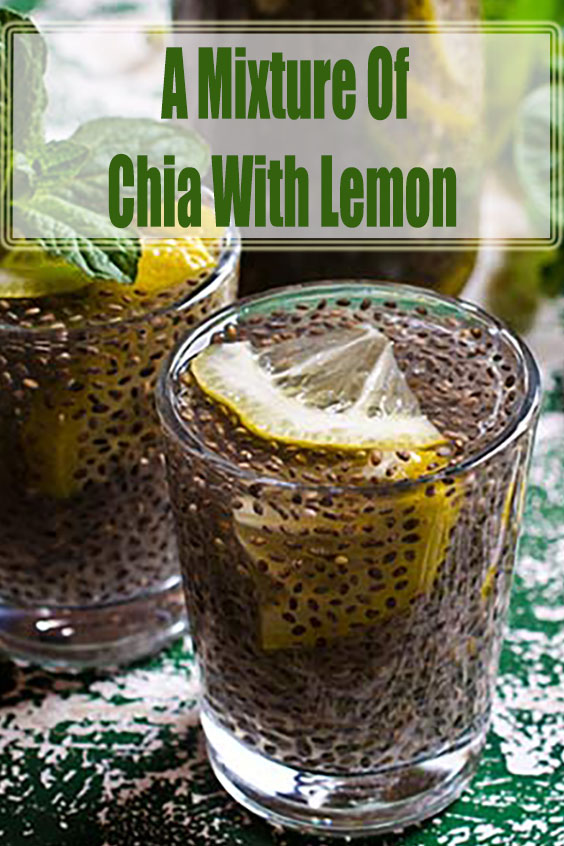 A Mixture Of Chia With Lemon