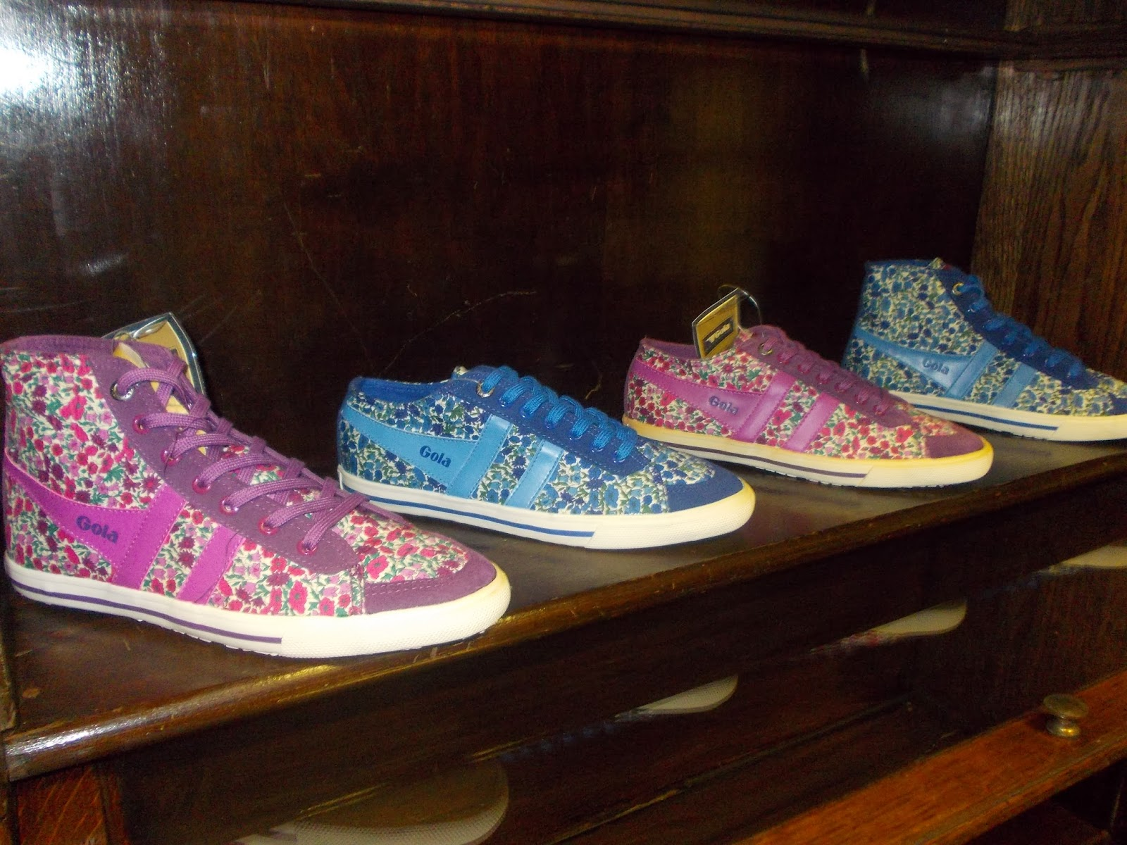 Liberty fabric and Gola trainers put together to make something unique that  screams