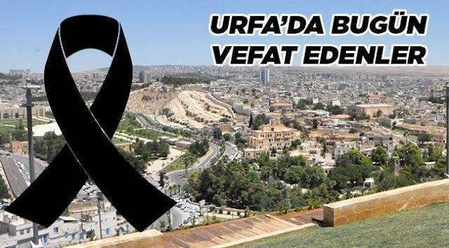 Urfa'da 11 kişi vefat etti