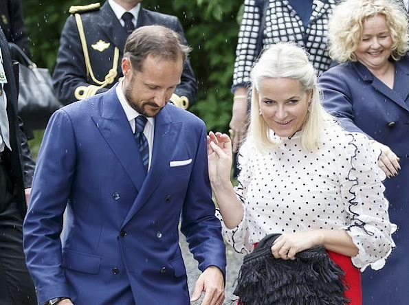 King Harald and Queen Sonja, Crown Prince Haakon and Crown Princess Mette-Marit of Norway attended the presentation of the Storting's (Norwegian Parliament) gift