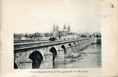 Photo de Moulins, Allier.pont Régemortes, et vue générale de Moulins
