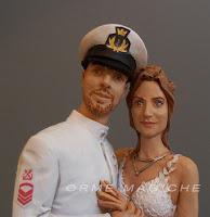 ritratti sposi idea regalo sposi statuette realistiche sposi per torta milano orme magiche