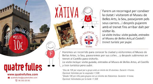 excursión escolares a Xàtiva