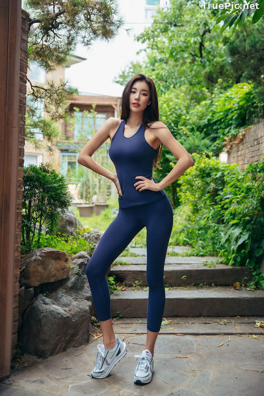 Image Korean Fashion Model - Park Da Hyun - Navy Sportswear - TruePic.net - Picture-6